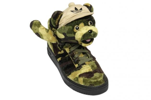 Camo bear Adidas x Jeremy Scott