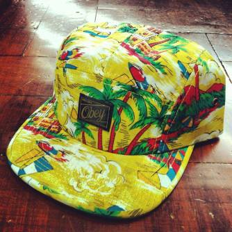 OBEY Pacifica Yellow 5 Panel